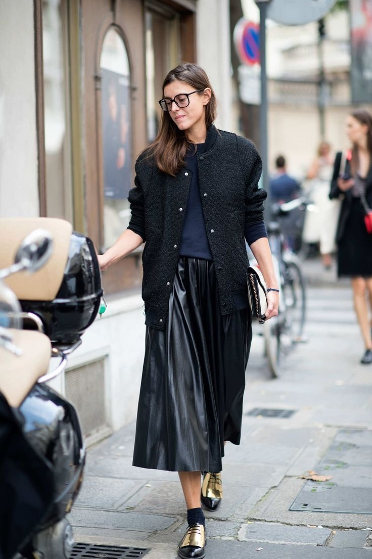 10 Awesome Long Black Skirt Outfit Ideas 22 ways to style a leather midi skirt closetful of clothes 2020