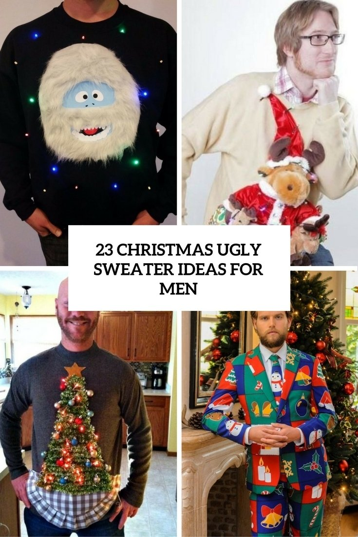10 Stunning Ideas For Ugly Sweater Party 23 christmas ugly sweater ideas for men styleoholic 2020