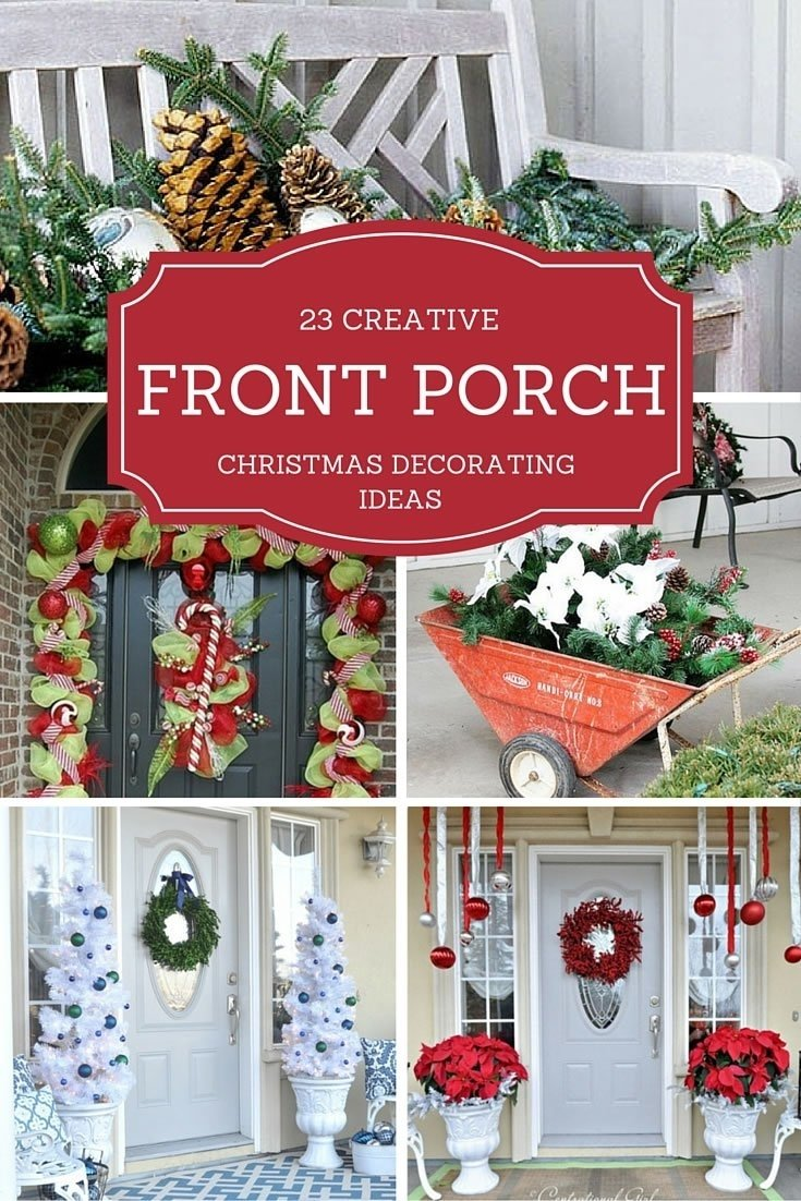 10 Lovable Christmas Front Porch Decorating Ideas 23 creative front porch christmas decorating ideas christmas designers 2 2020