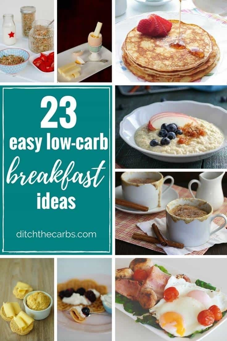 23 easy low carb breakfast ideas - easy, quick and sugar free -
