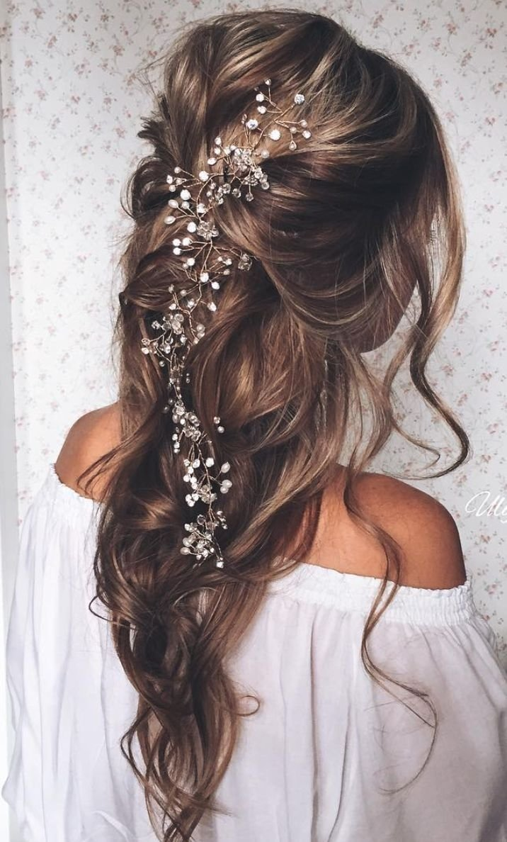 10 Most Recommended Prom Hair Ideas For Long Hair 23 exquisite hair adornments for the bride loose waves popular 2020
