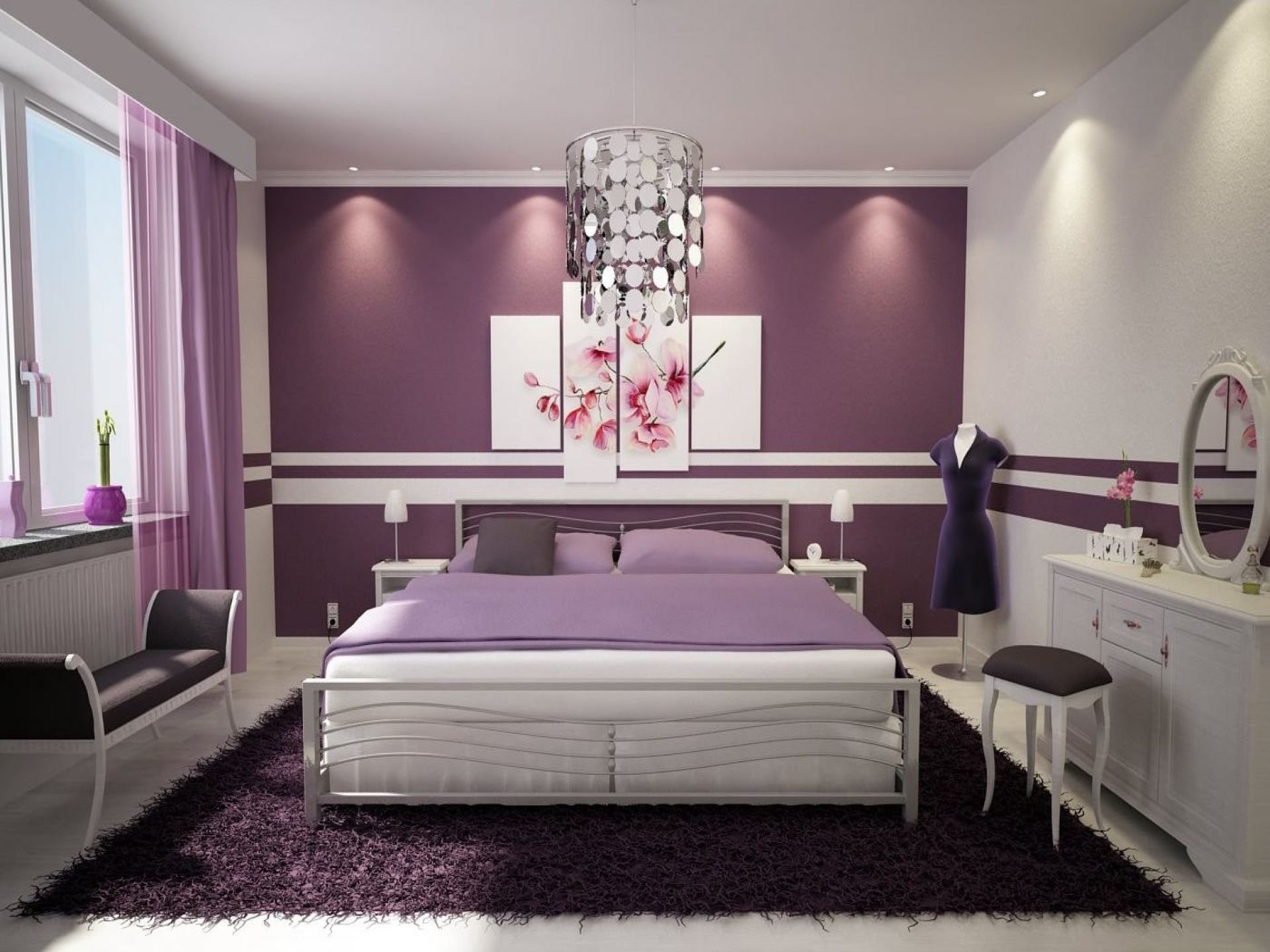 10 Stylish Purple Bedroom Ideas For Adults 23 inspirational purple interior designs you must see 1 2020