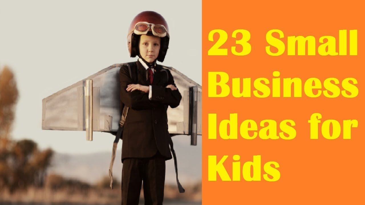 23 small business ideas for kids - youtube