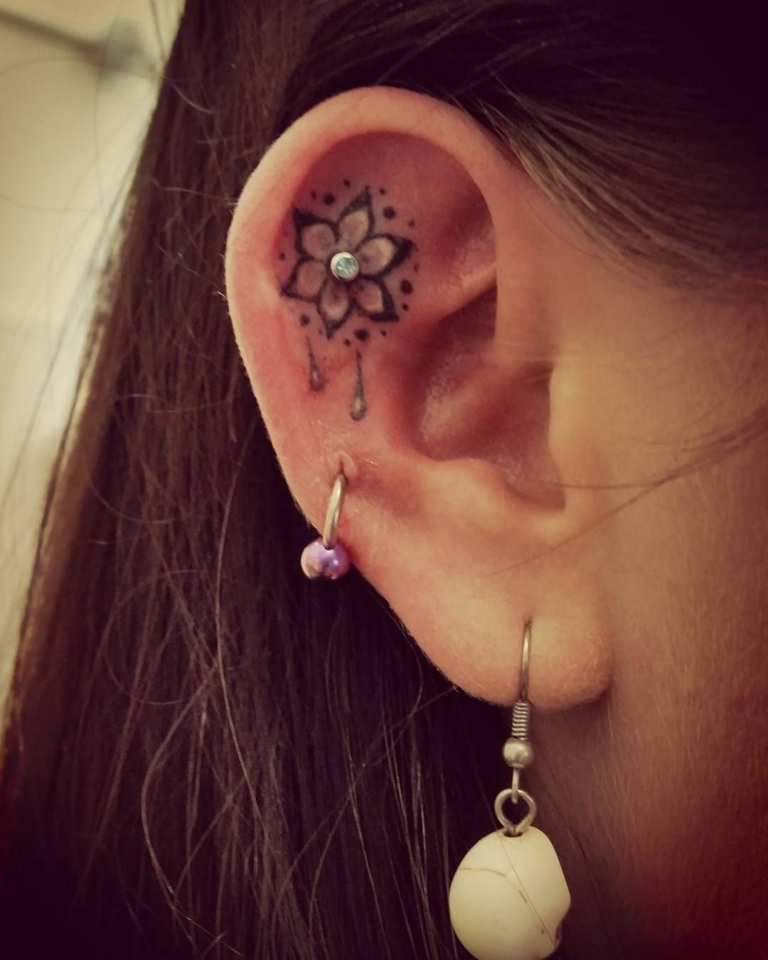 10 Fashionable Cute Piercing Ideas For Girls 23 tiny ear tattoos that are better than piercings tattoo woman 2021