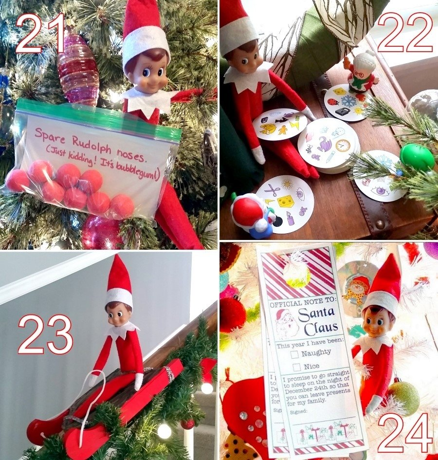 24 cute elf on the shelf ideas - the scrap shoppe