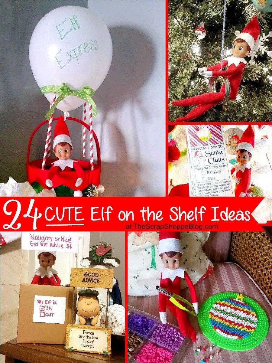 10 Elegant Elf On A Shelf Ideas 24 cute elf on the shelf ideas the scrap shoppe
