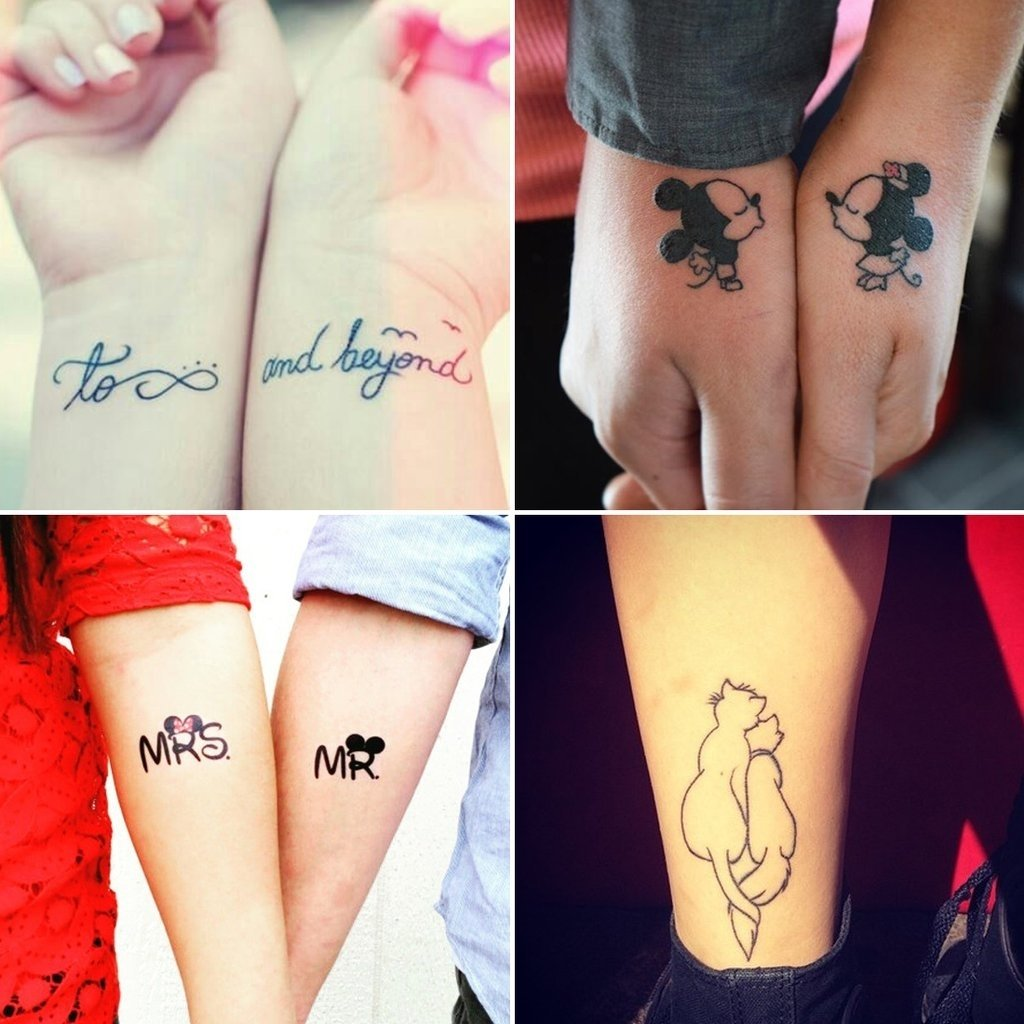 10 Beautiful Husband And Wife Tattoo Ideas 24 disney couple tattoos that prove fairy tales are real disney 2