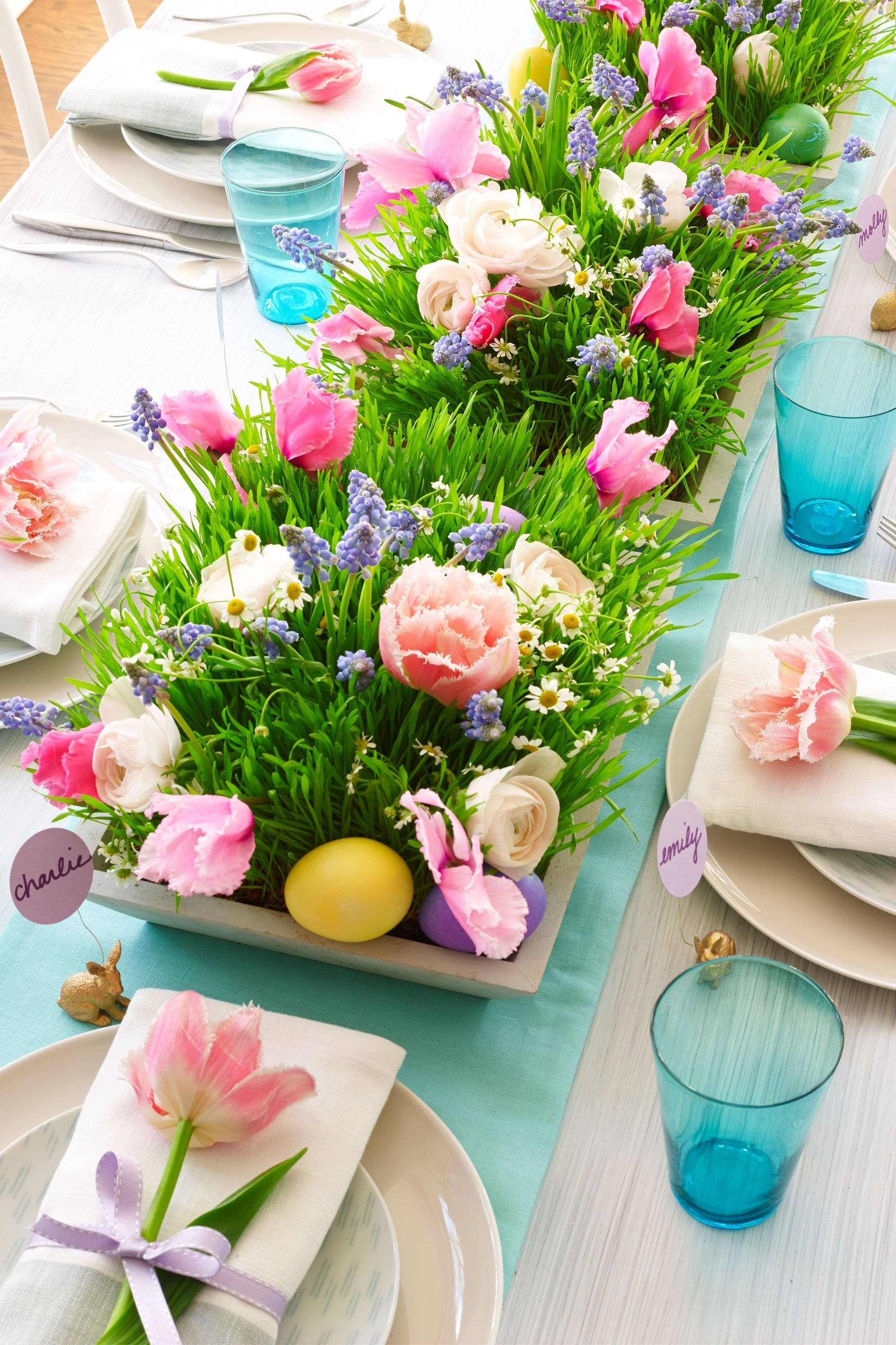 10 Best Easter Decorating Ideas Table Setting 24 easter table decorations table decor ideas for easter brunch 1
