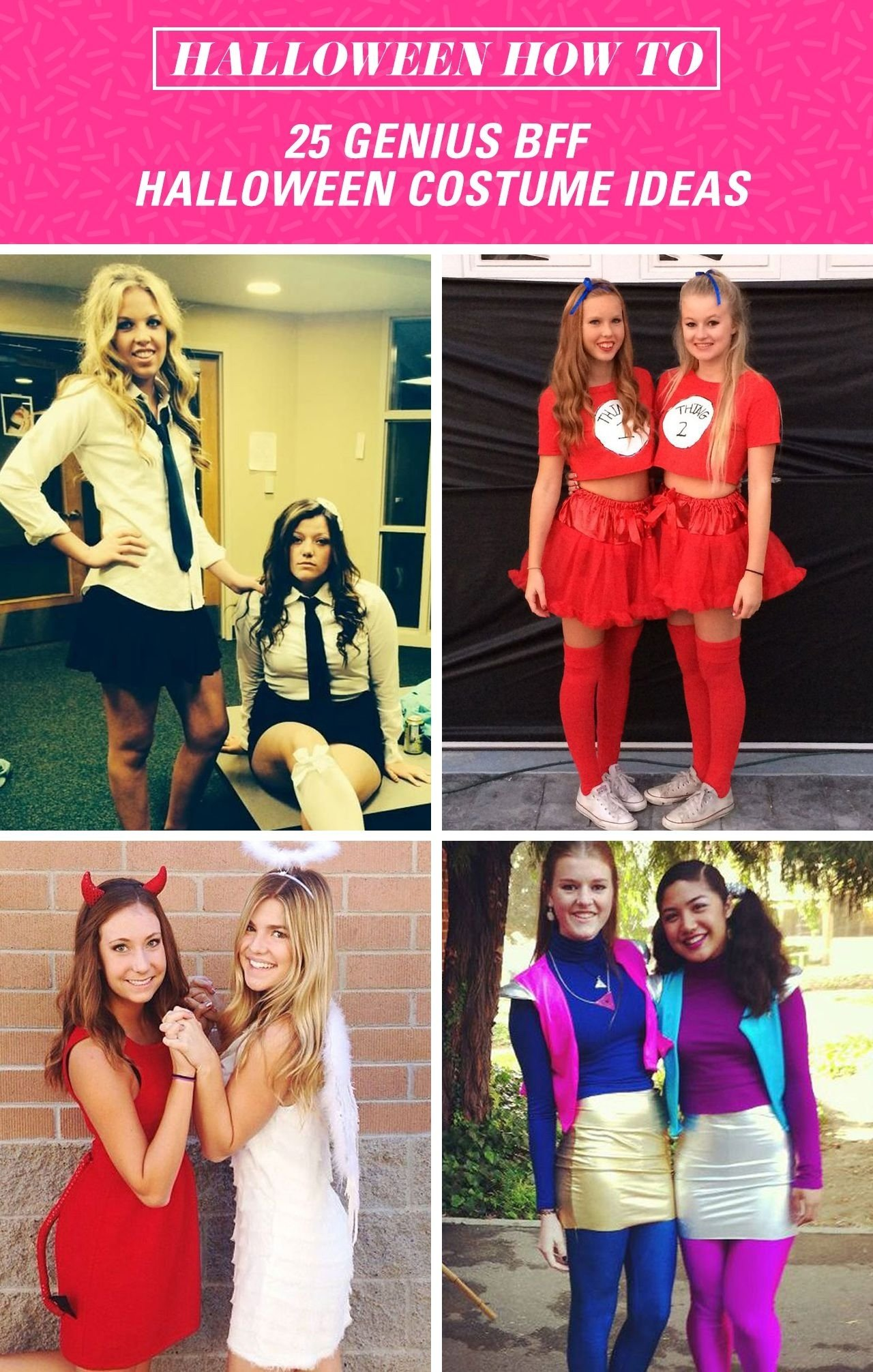 10 Trendy Halloween Costume Ideas For Two Girls 24 genius bff halloween costume ideas you need  sc 1 st  Unique Ideas 2018 & 10 Trendy Halloween Costume Ideas For Two Girls