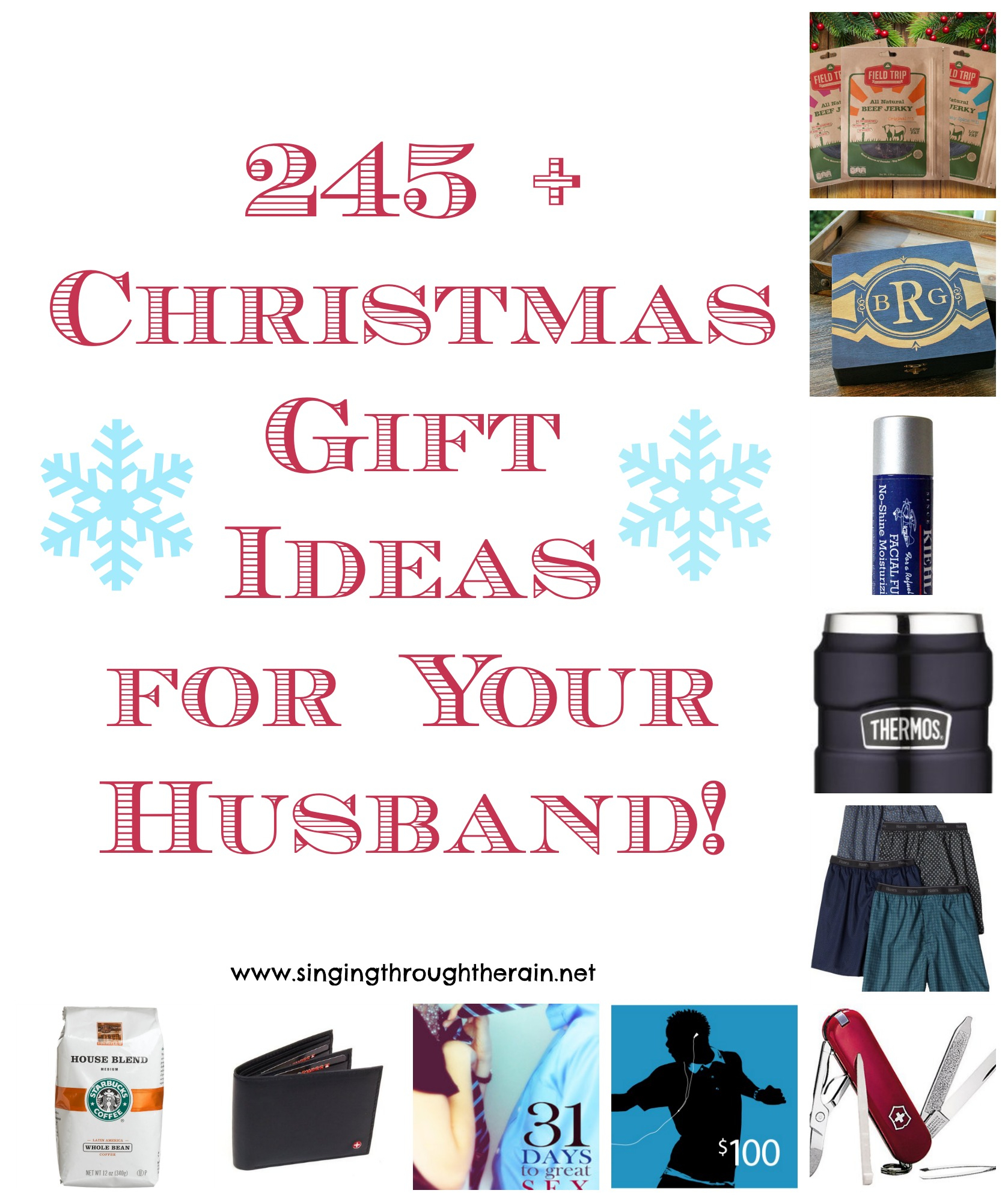 245+ christmas gift ideas for your husband! | singing through the rain