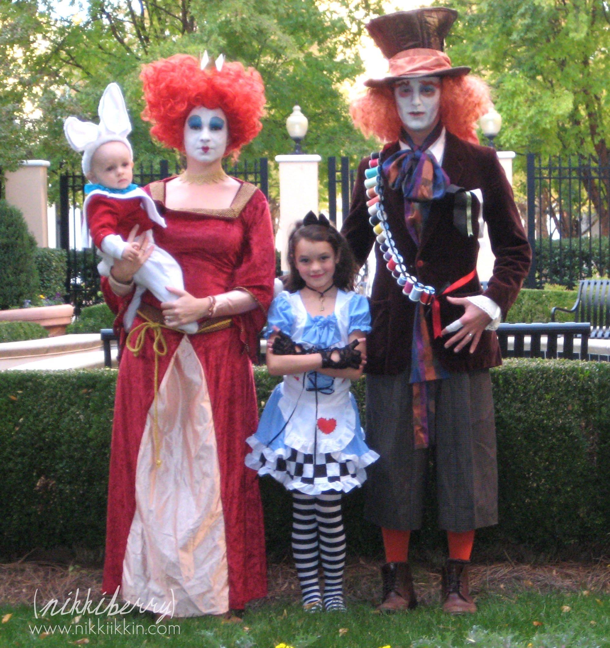 10 Gorgeous Alice And Wonderland Costume Ideas 25 awesome family costume ideas family halloween halloween 5 2020