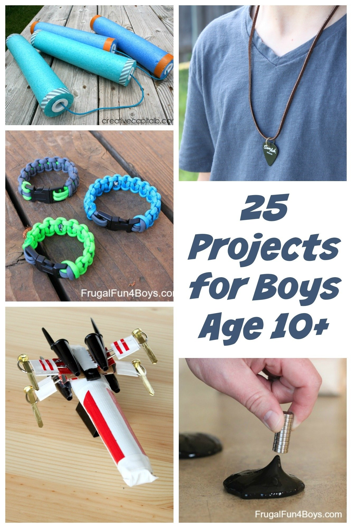 10 Famous Cool Craft Ideas For Kids 25 awesome projects for tween and teen boys ages 10 and up 2021