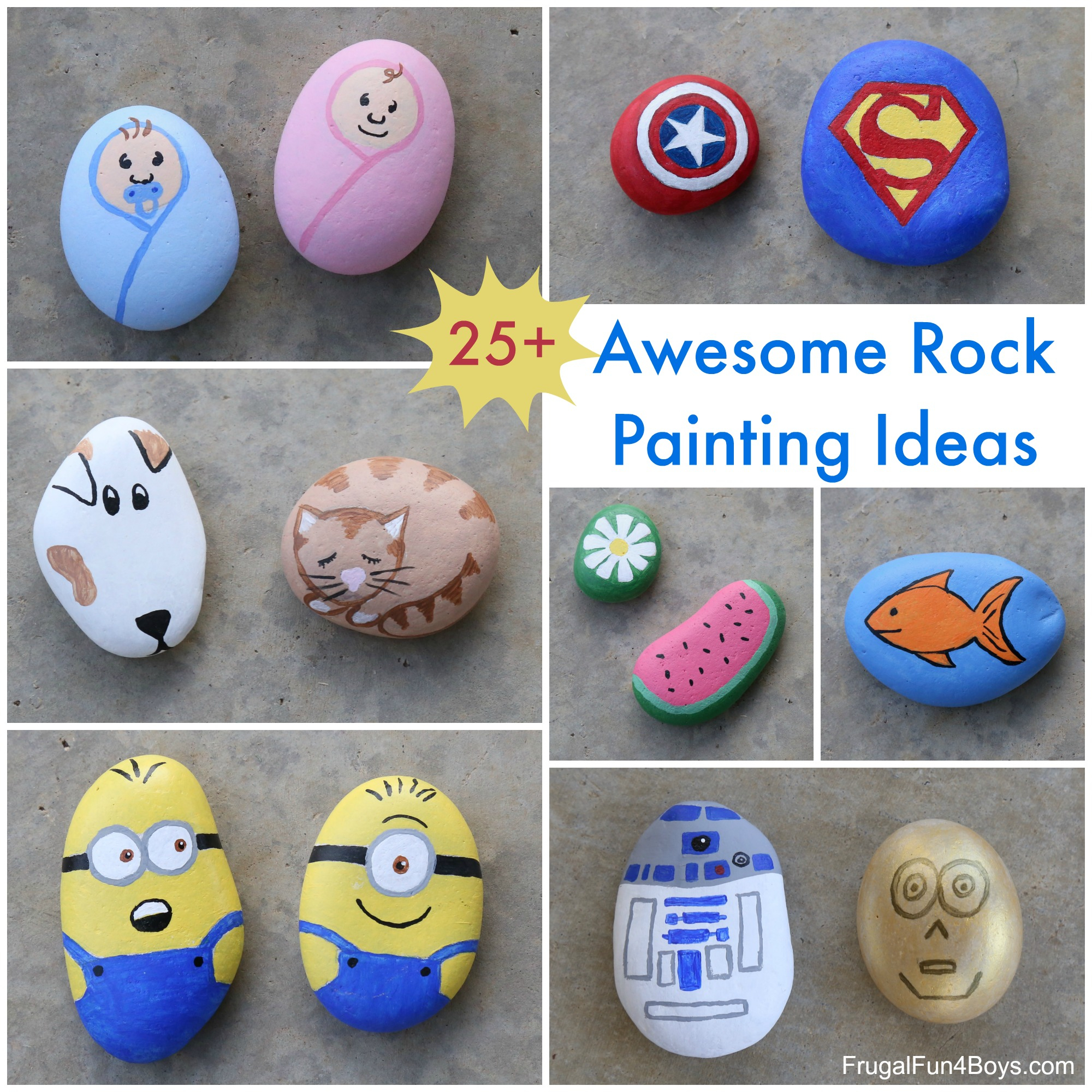 10 Fabulous Rock Painting Ideas For Kids 25 awesome rock painting ideas frugal fun for boys and girls 1 2020