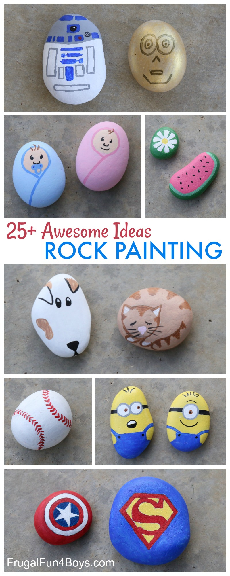 10 Fabulous Rock Painting Ideas For Kids 25 awesome rock painting ideas frugal fun for boys and girls 2020