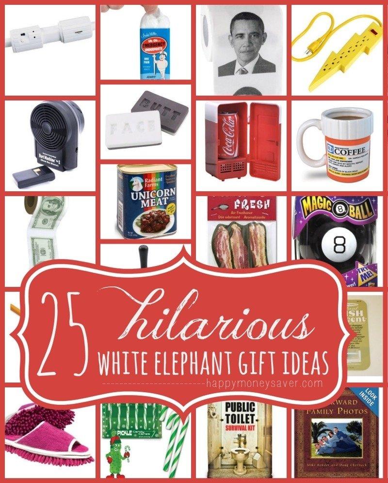 10 Nice White Elephant Funny Gift Ideas 25 best hilarious white elephant gift ideas happymoneysaver 2 2020