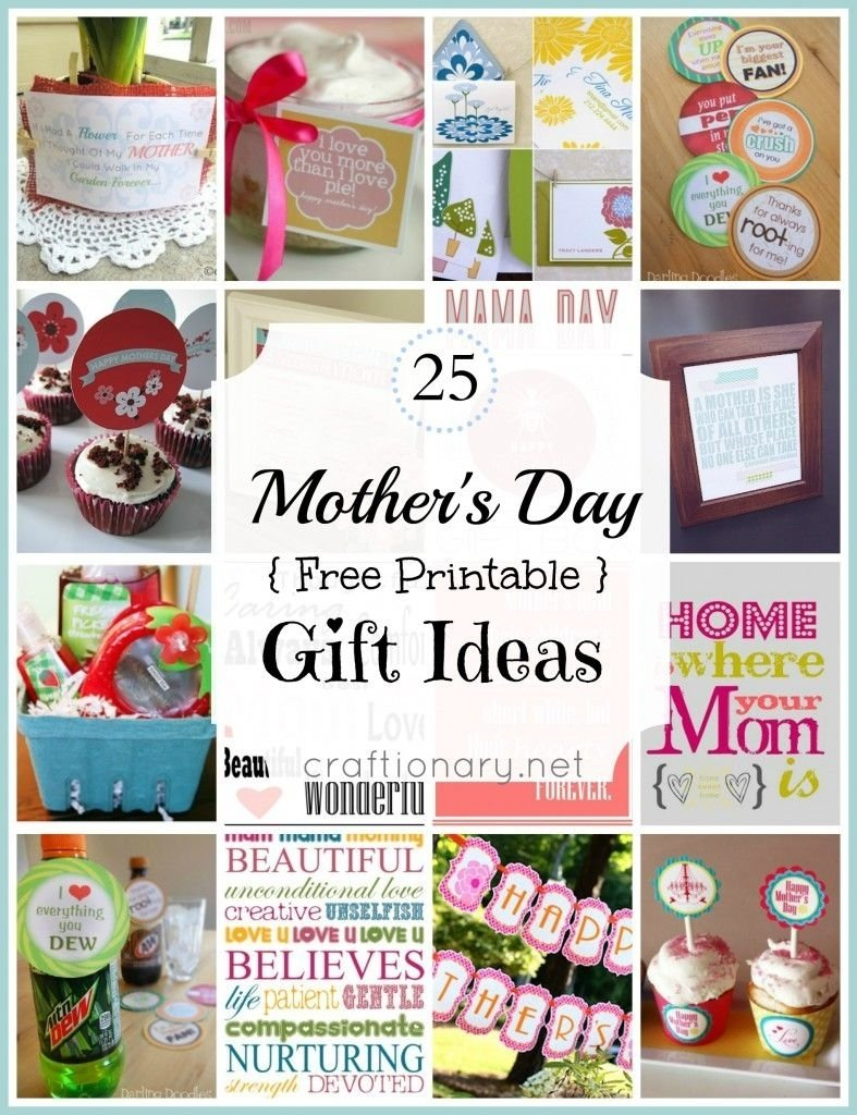 10 Most Recommended Good Gift Ideas For Mom 25 best mothers day free printables to love free printables gift 10 2021