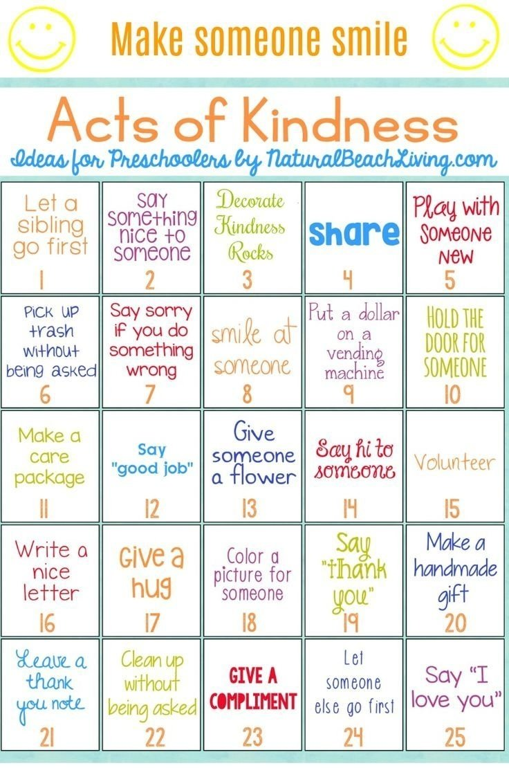 10 Trendy Acts Of Kindness Ideas For Kids 25 best random acts of kindness ideas for preschoolers 2 2020