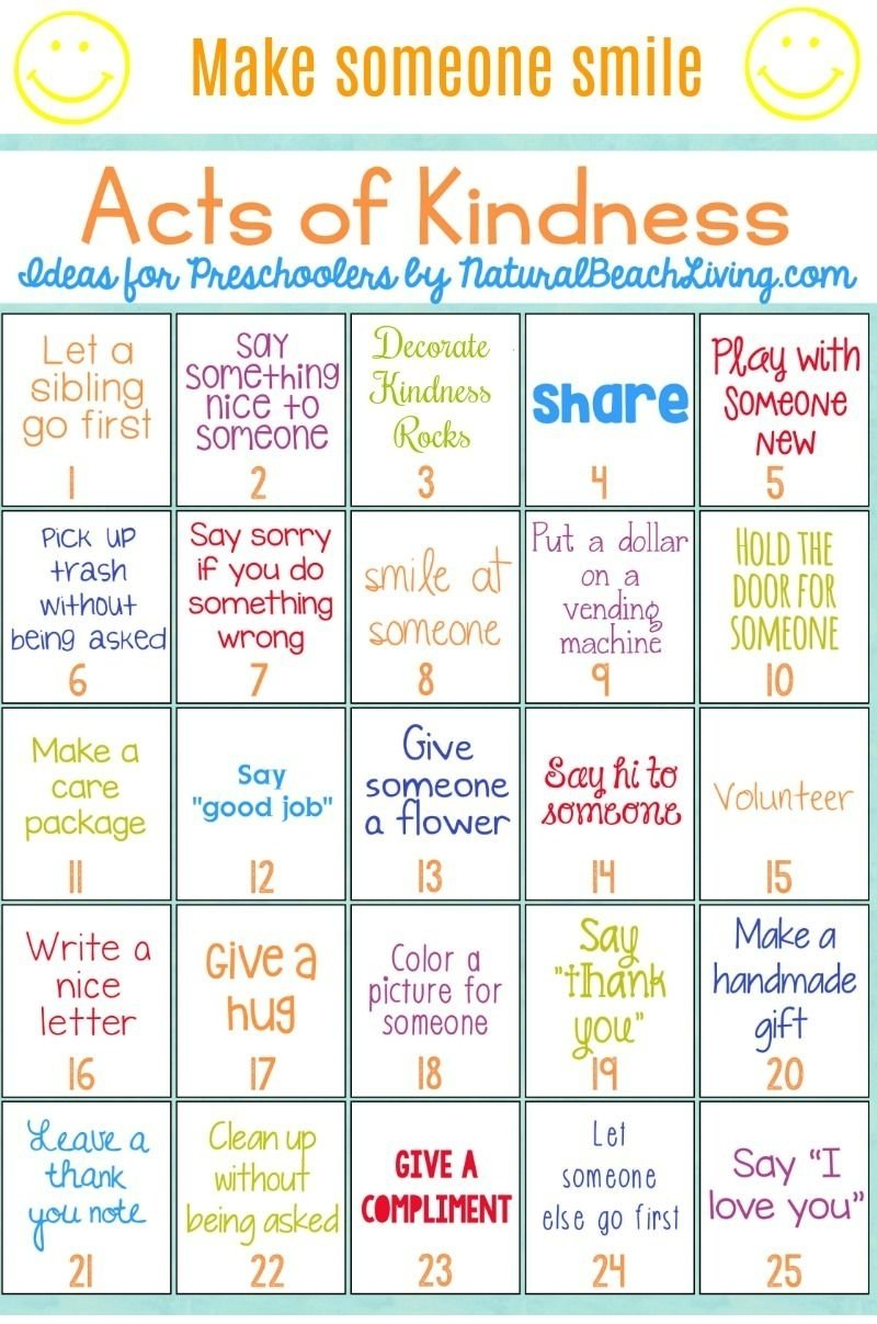 10 Stunning Random Acts Of Kindness Ideas For School 25 best random acts of kindness ideas for preschoolers 3 2020