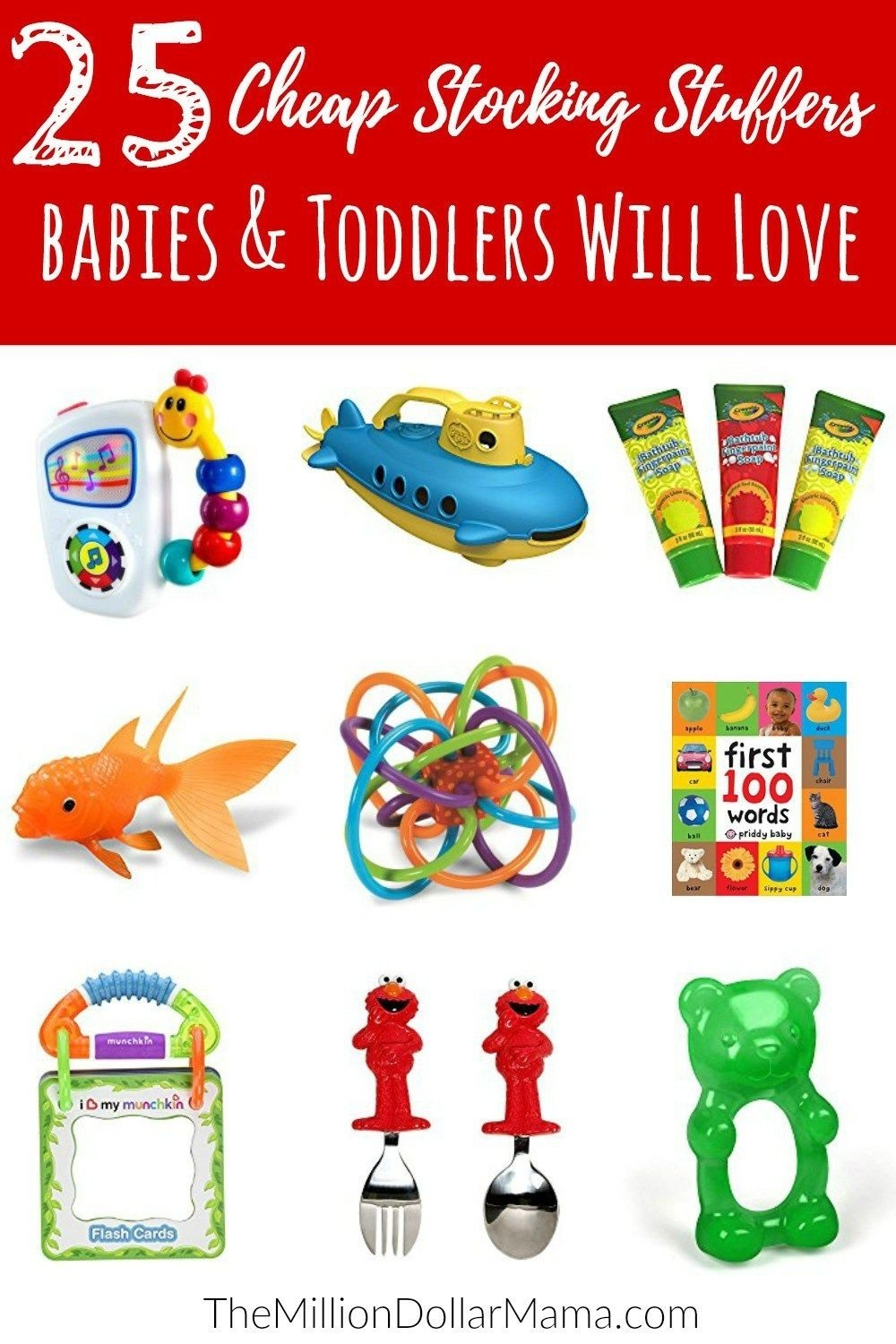 25 cheap stocking stuffer ideas for babies & toddlers | stocking