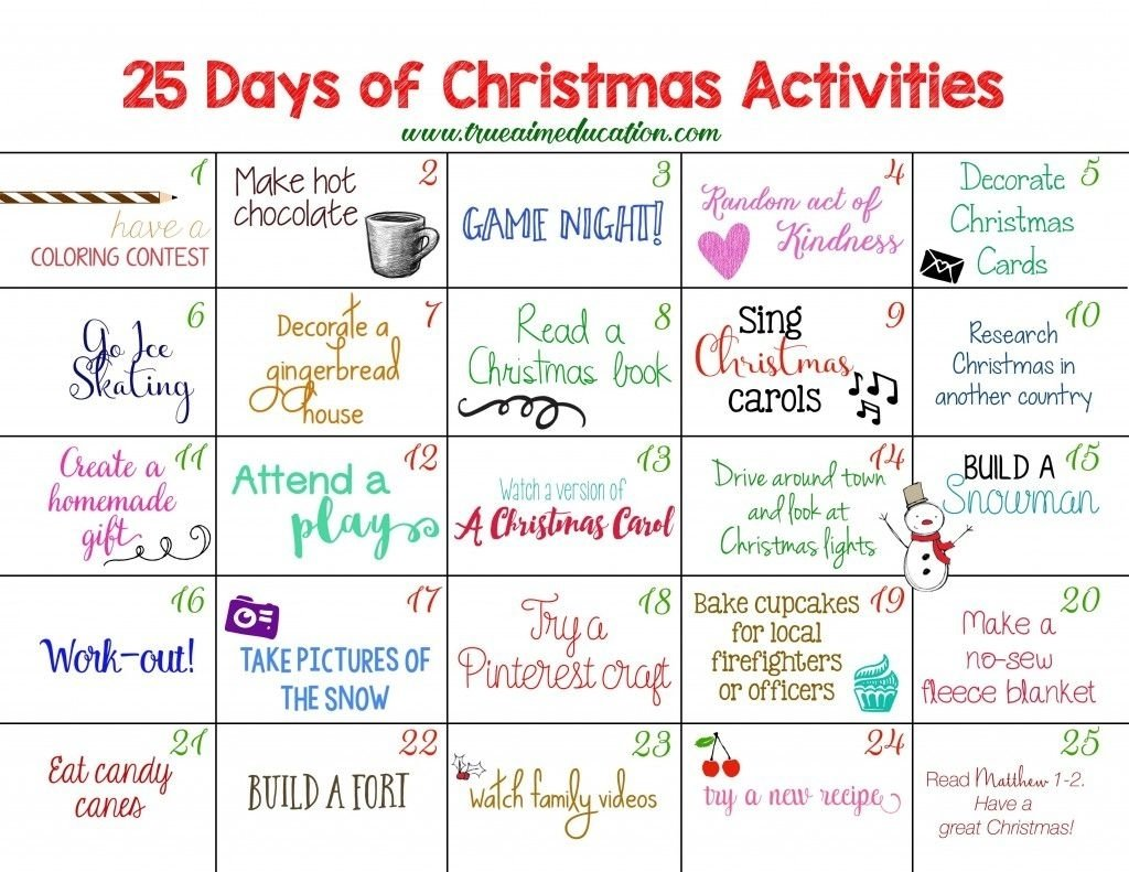 10 Fantastic Ideas For Advent Calendar Fillers 25 days of christmas activities advent calendar advent calendars