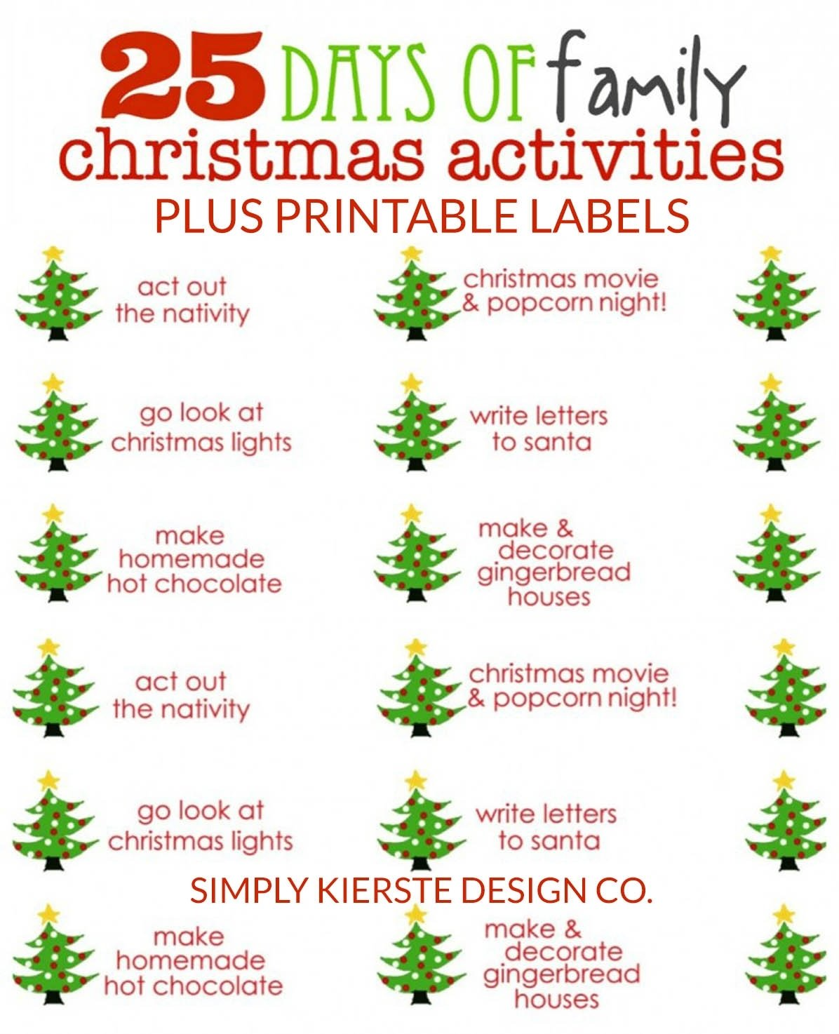 10 Stylish Christmas Game Ideas For Families 25 days of family christmas activities simplykierste 2020