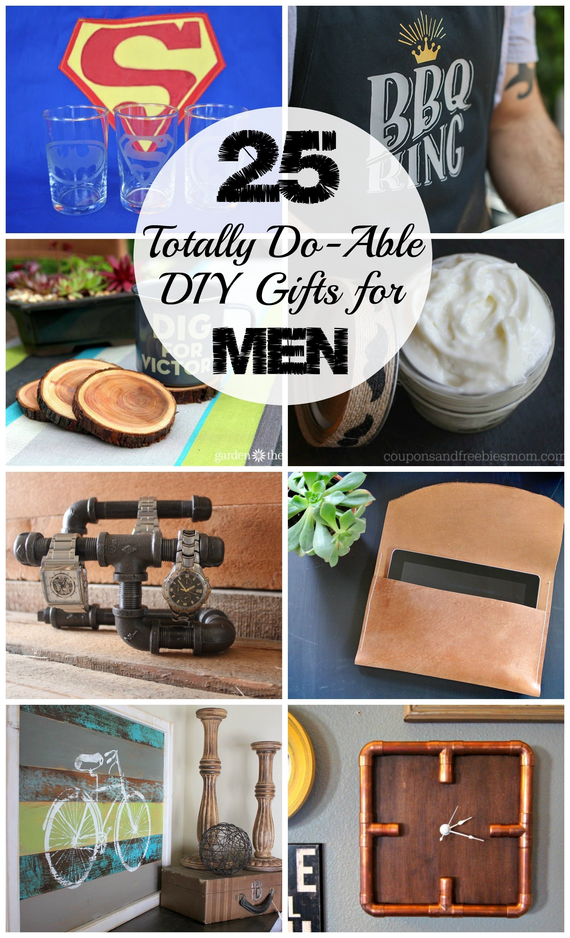 10 Most Recommended Creative Gift Ideas For Men 25 diy gifts for men love create celebrate 2 2020
