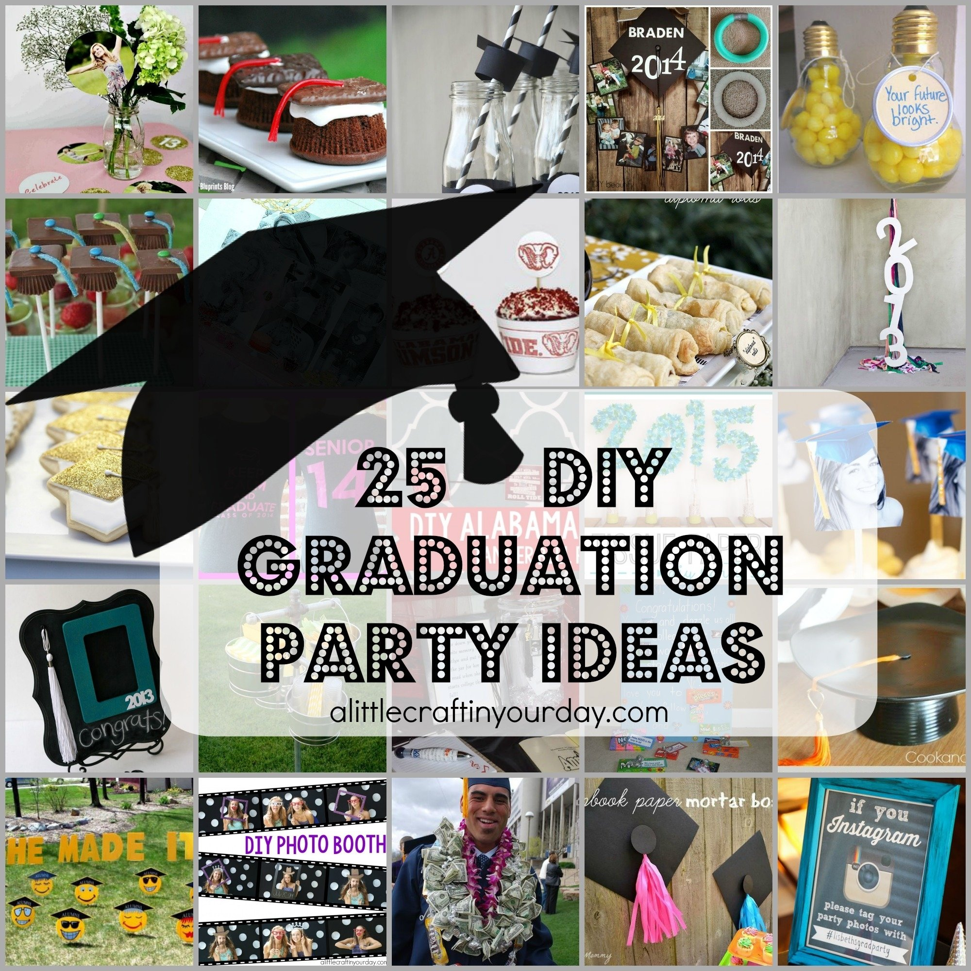10 Trendy Ideas For A Graduation Party 25 diy graduation party ideas a little craft in your day 4