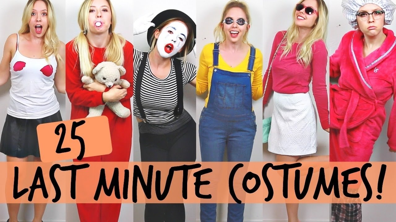 10 Great Really Easy Halloween Costume Ideas 25 diy halloween costume ideas ashley nichole youtube 13 2021