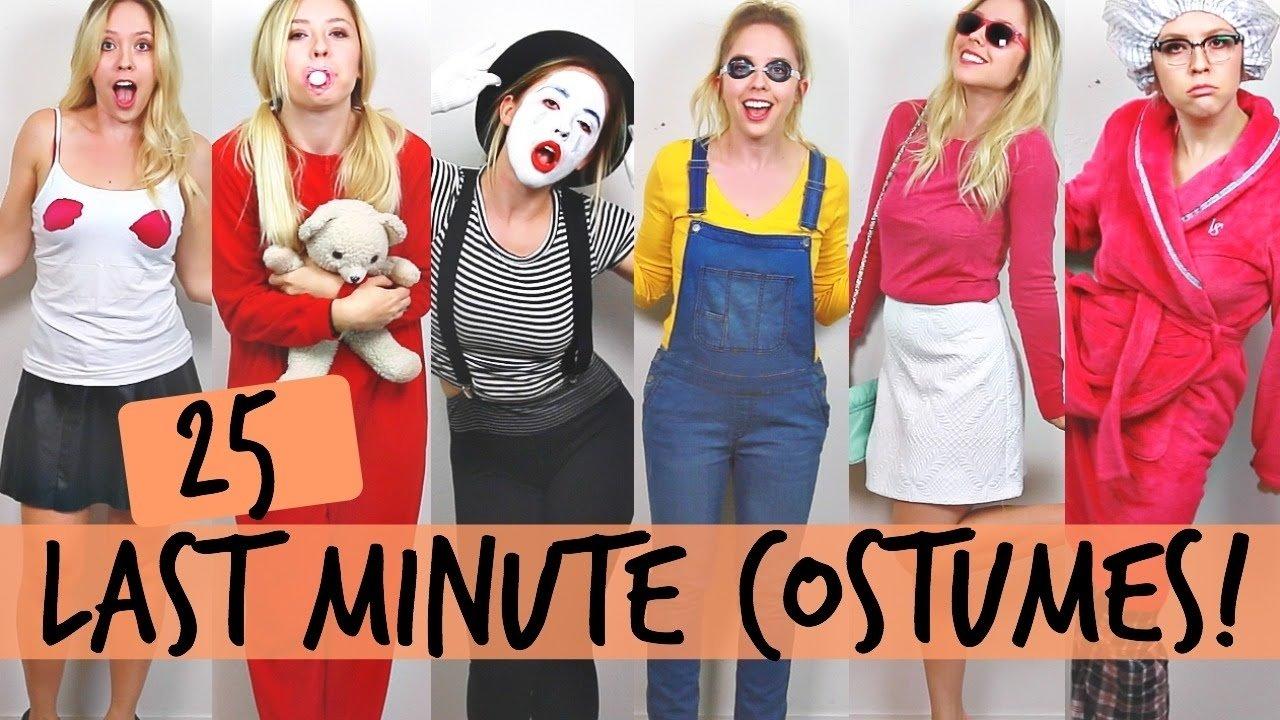 10 Gorgeous Easy Halloween Costume Ideas Women 25 diy halloween costume ideas ashley nichole youtube 33 2020