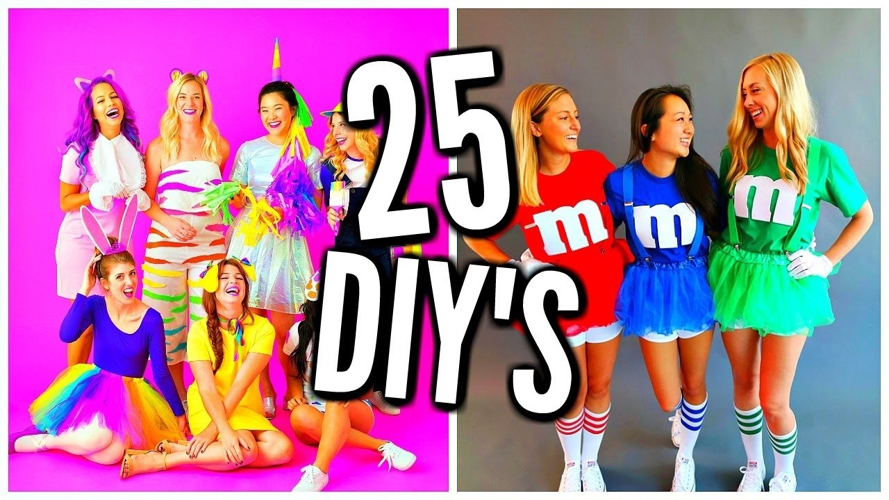 10 Awesome Costume Ideas For Three Girls 25 diy halloween costume ideas costumes for groups couples youtube 8
