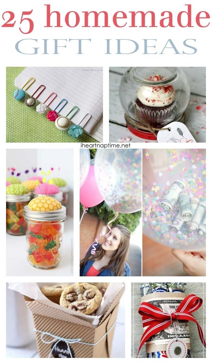 10 Spectacular Homemade Gift Ideas For Girls 25 fabulous homemade gifts i heart nap time 1 2021