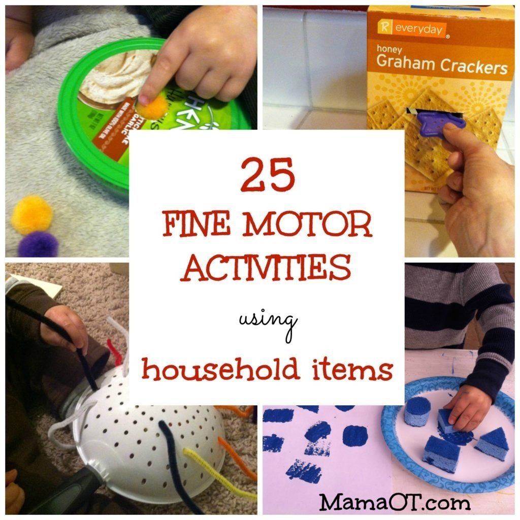 10 Unique Occupational Therapy Activity Ideas For Adults 25 fine motor activities using household items 1 2020