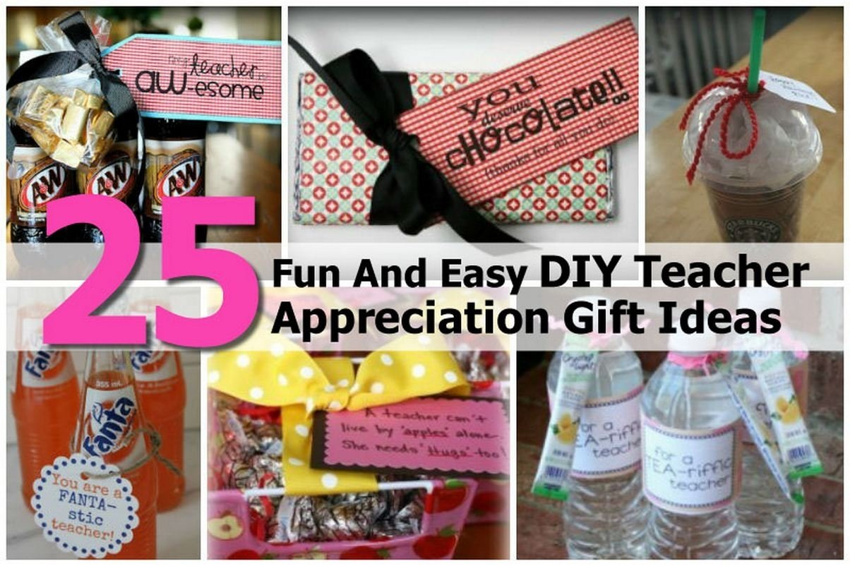 10 Awesome Diy Thank You Gift Ideas 25 fun and easy diy teacher appreciation gift ideas 2020