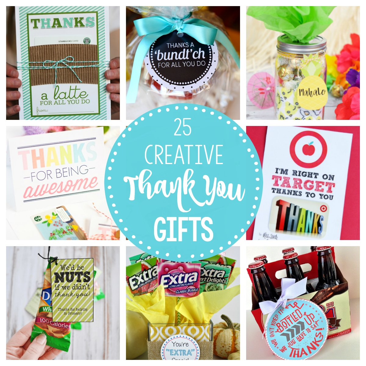 25 fun & creative thank you gift ideas – fun-squared