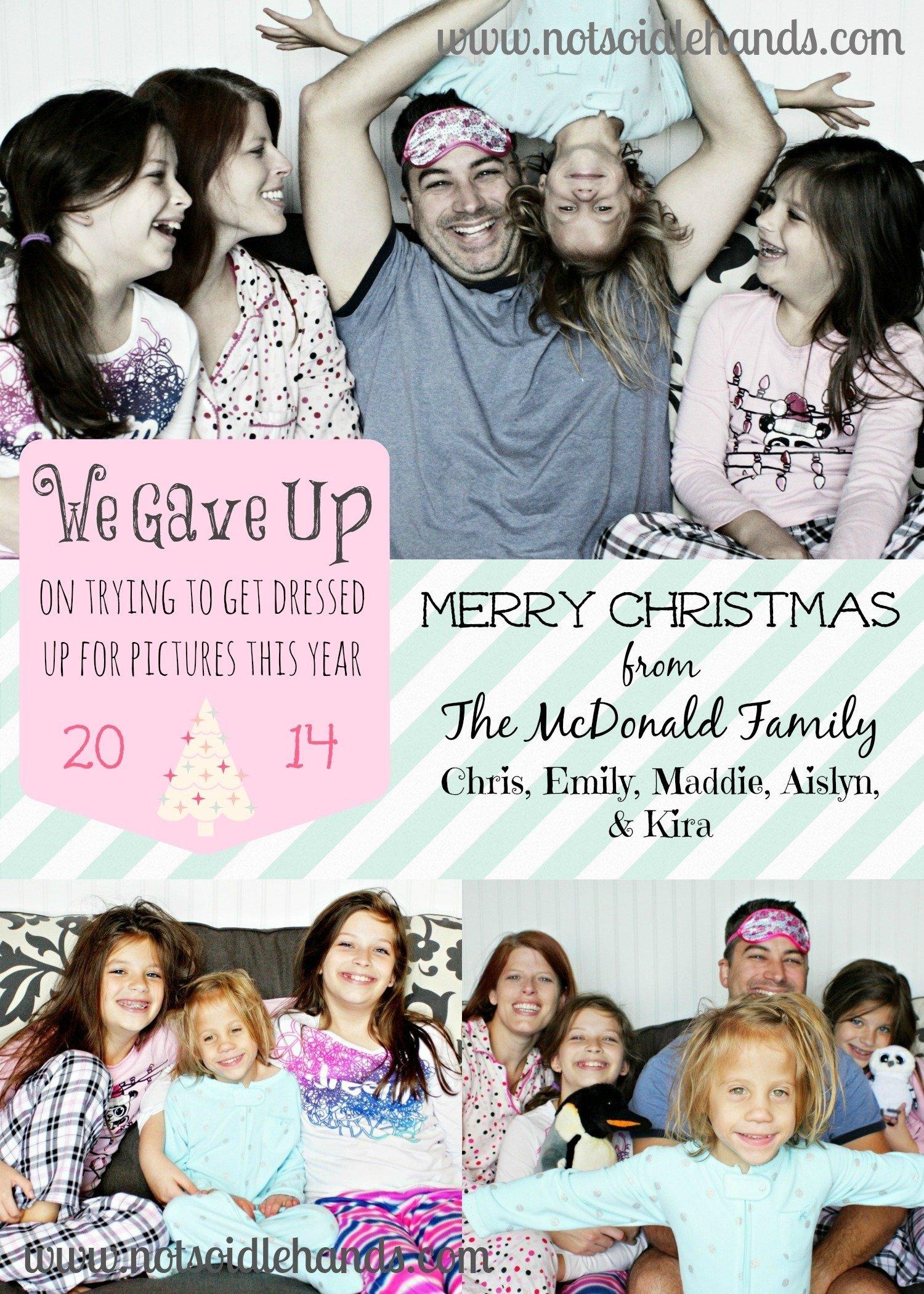 25 funny christmas card ideas - family christmas card photos with