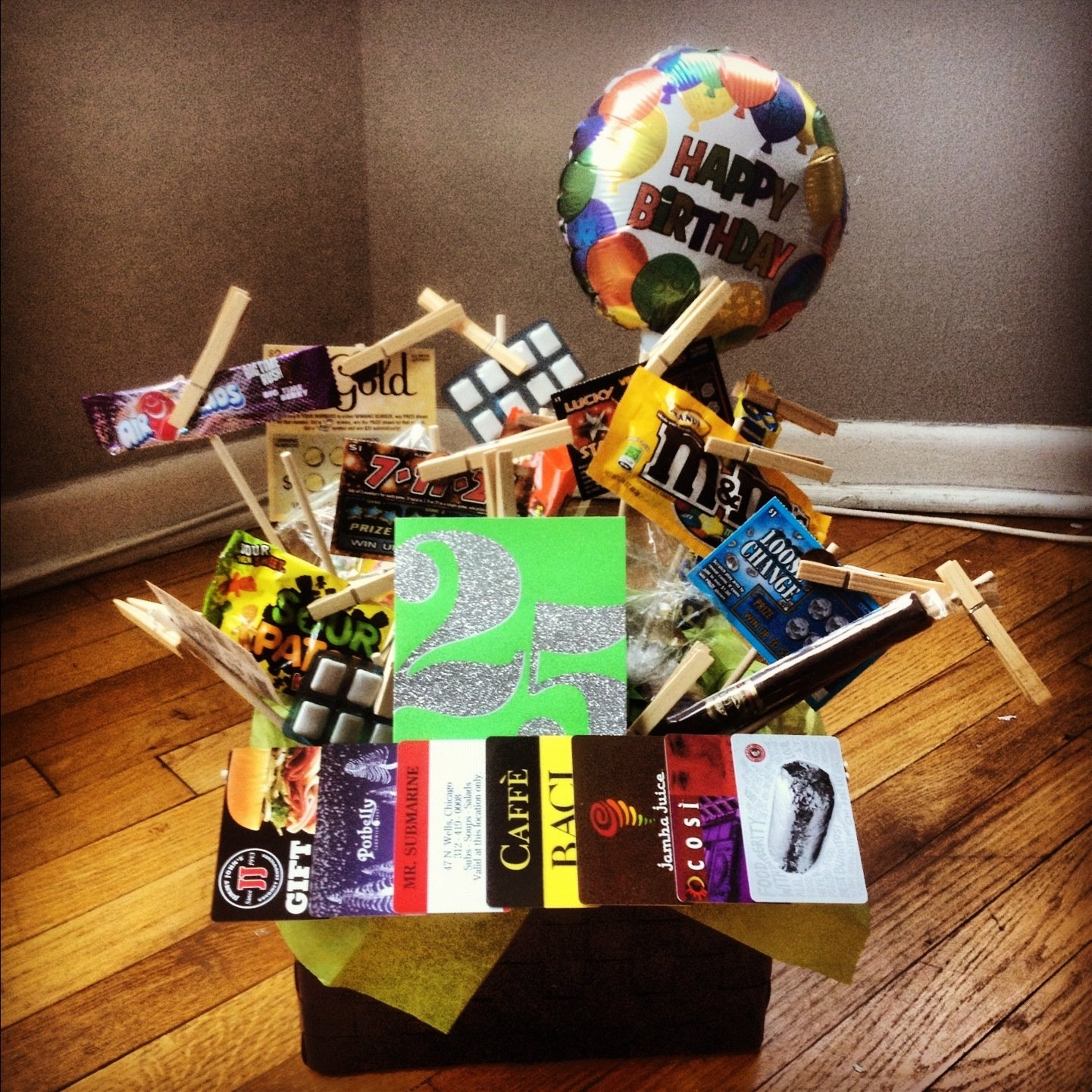 10 Most Recommended 25Th Birthday Ideas For Boyfriend 25 gifts gift basket i made for kyles 25th birthday kados 1 2020