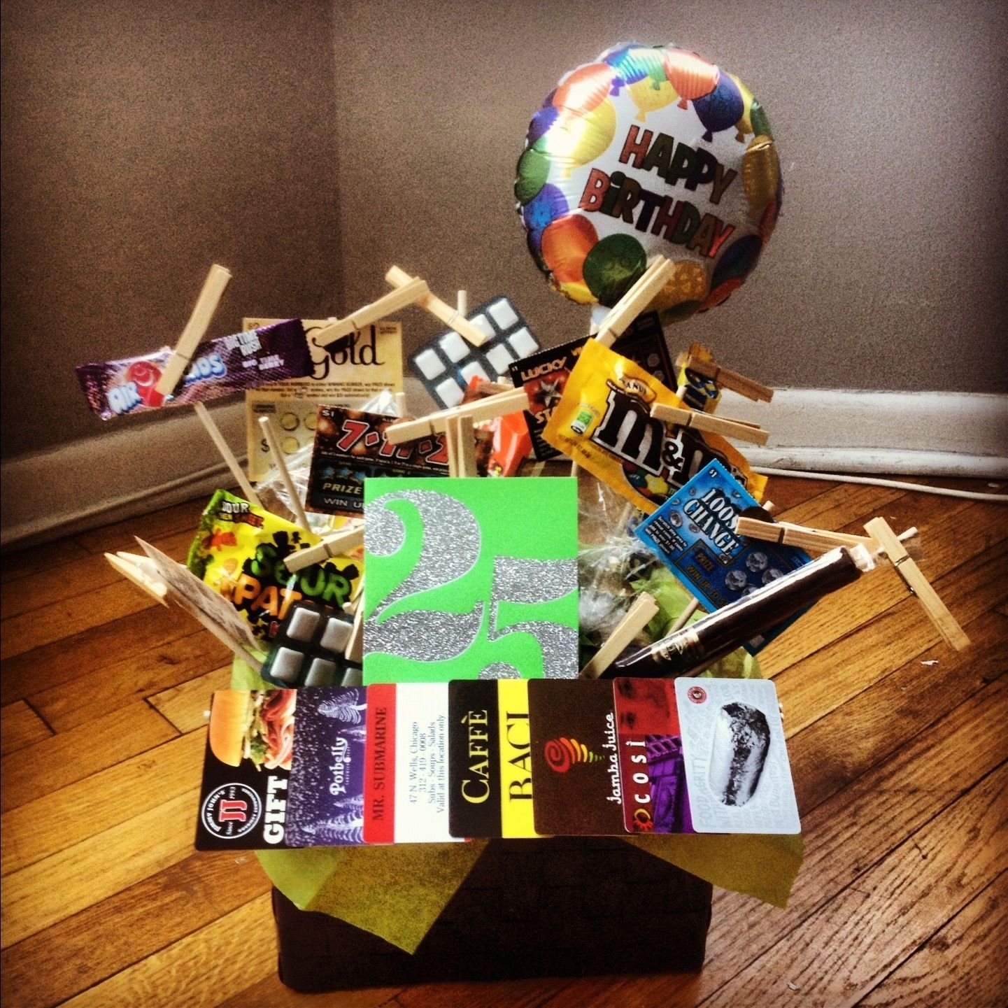 10 Most Popular 25Th Birthday Gift Ideas For Him 25 Gifts Basket I Made