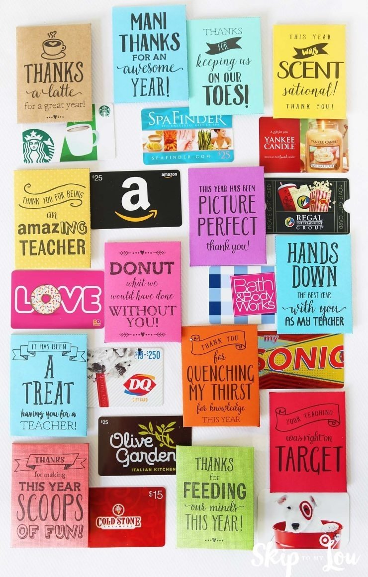10 Elegant Gift Card Ideas For Teachers 25 handmade gift ideas for teacher appreciation i heart nap time 2020