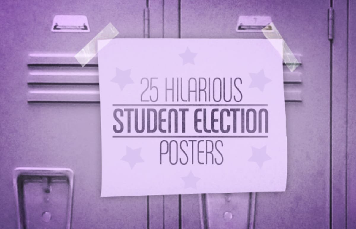 10 Stylish High School Student Council Ideas 25 hilarious student election posters complex 2020