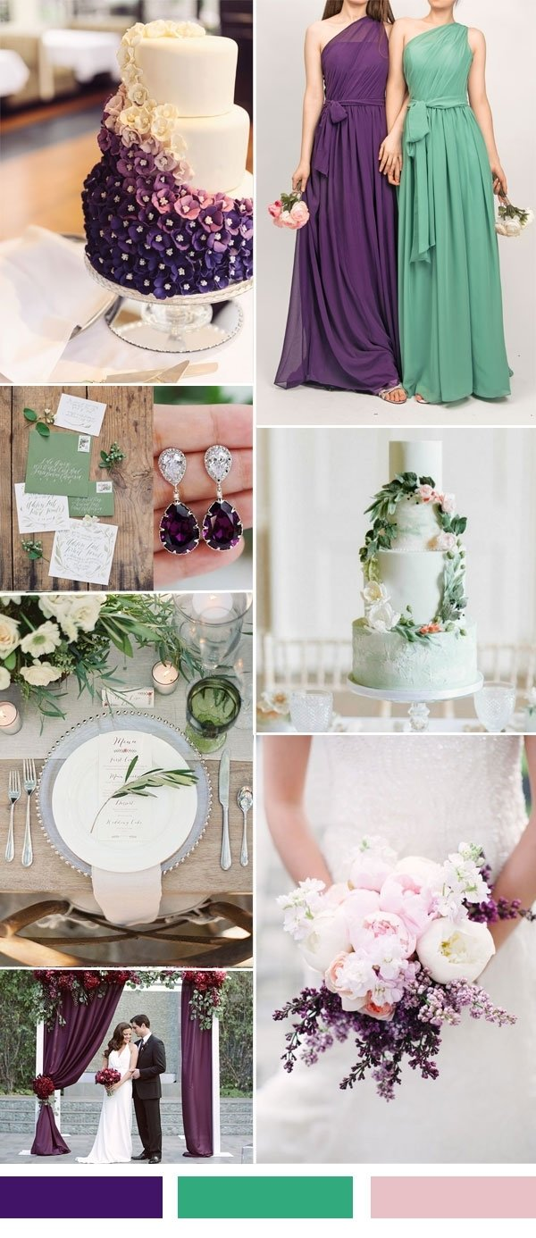 10 Awesome Purple And Green Wedding Ideas 25 hot wedding color combination ideas 2016 2017 and bridesmaid 1 2021