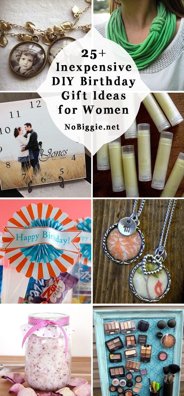 10 Lovely Birthday Gift Ideas For Her 25 inexpensive diy birthday gift ideas for women 8 2020