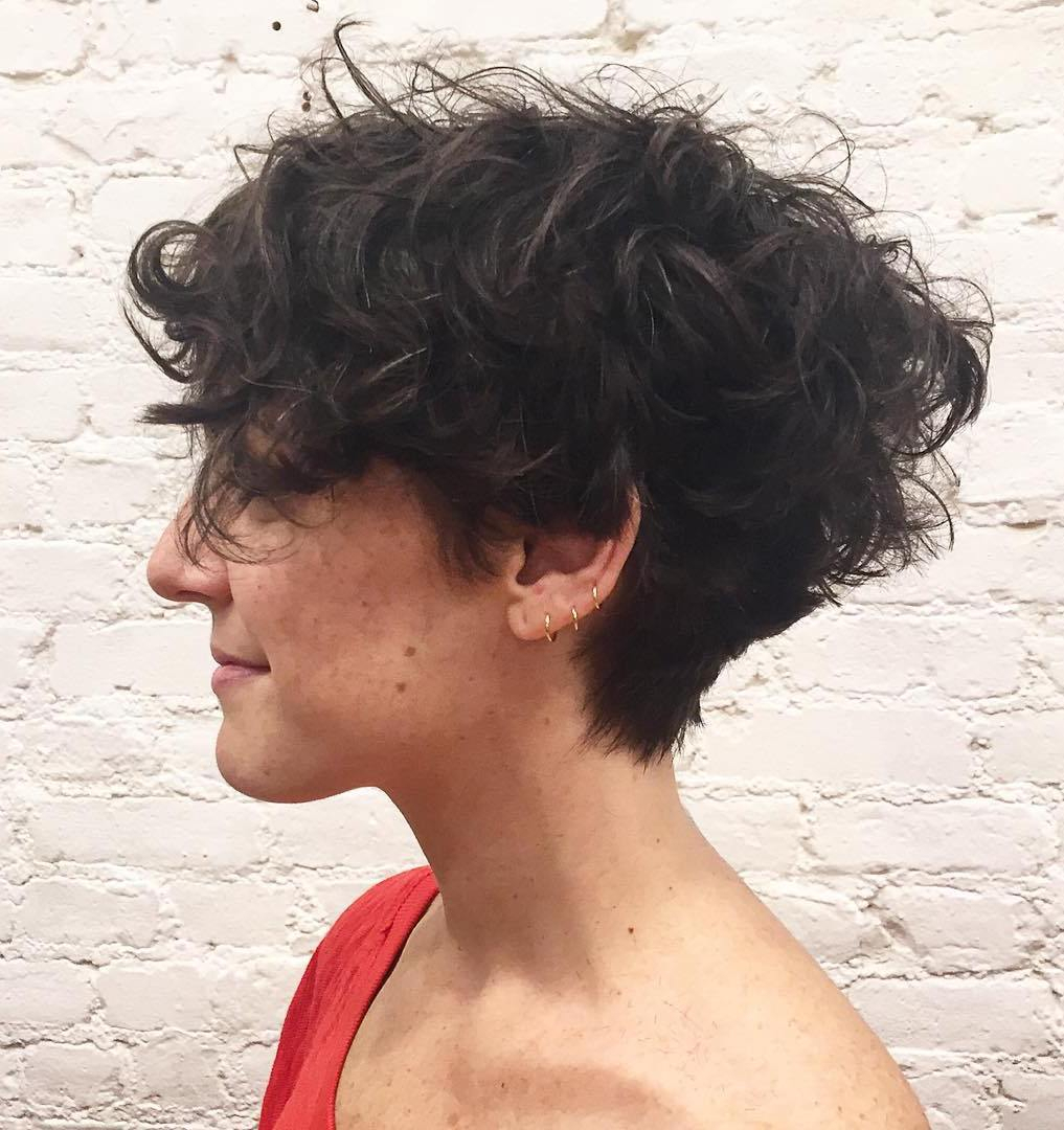 10 Trendy Ideas For Short Curly Hair 25 lively short haircuts for curly hair short wavy curly hairstyle 2 2020