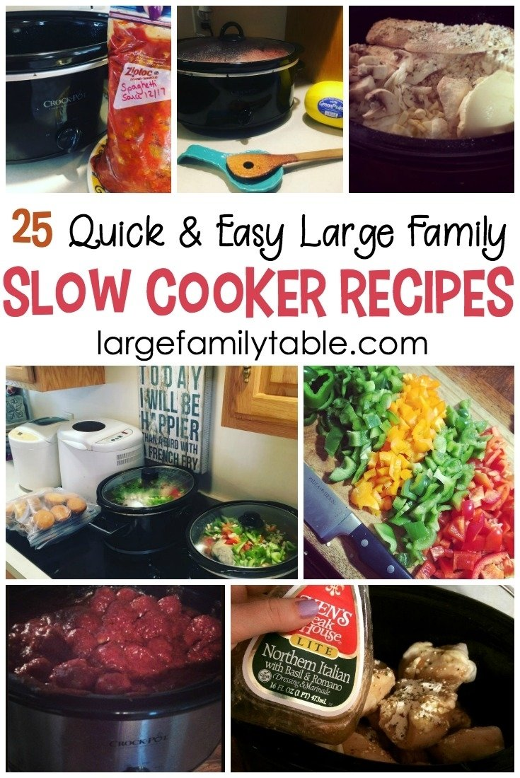 10 Trendy Cheap Meal Ideas For Large Families 25 quick cheap large family slow cooker recipes large family table