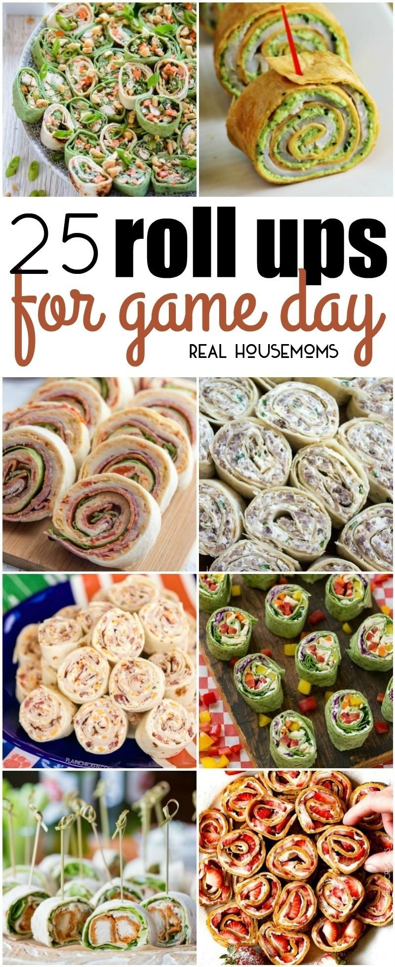 10 Best Football Party Food Menu Ideas 25 roll ups for game day finger foods football games pinwheel 2020