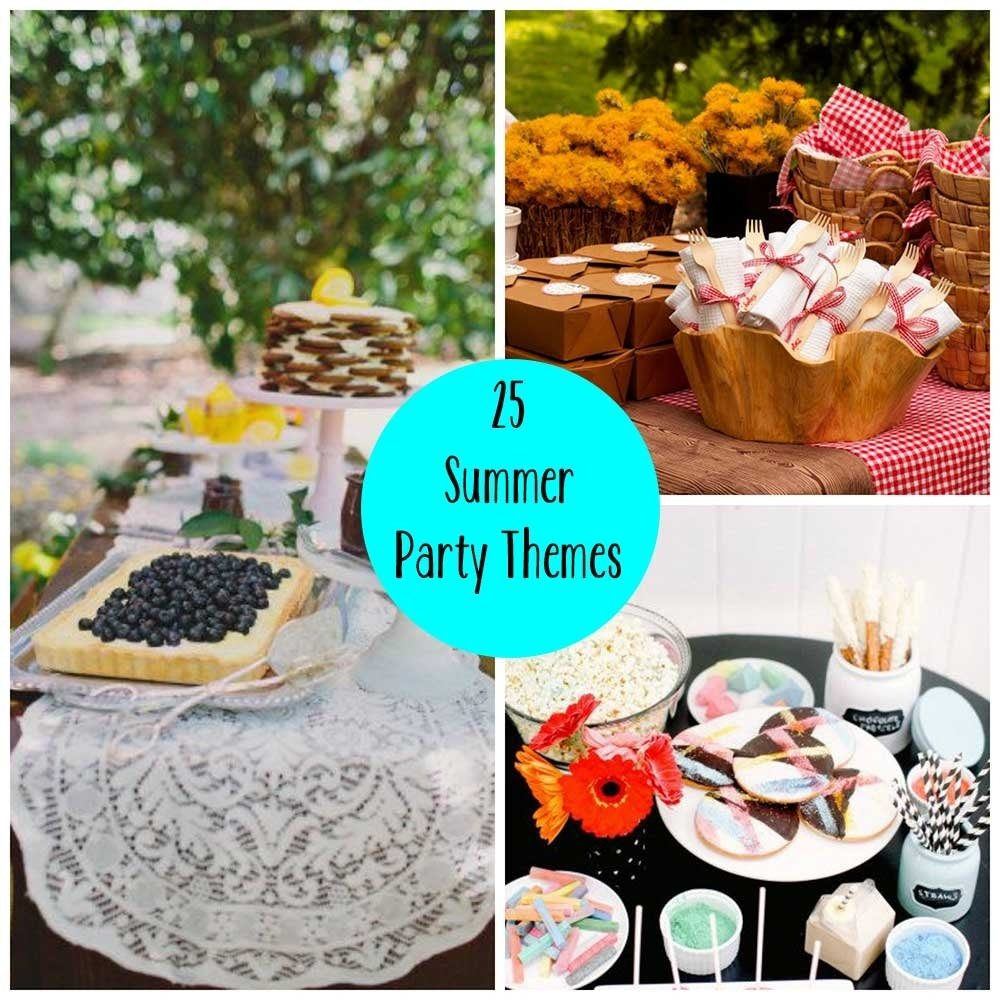 10 Lovable Summer Party Ideas For Adults 25 summer party themes 2020