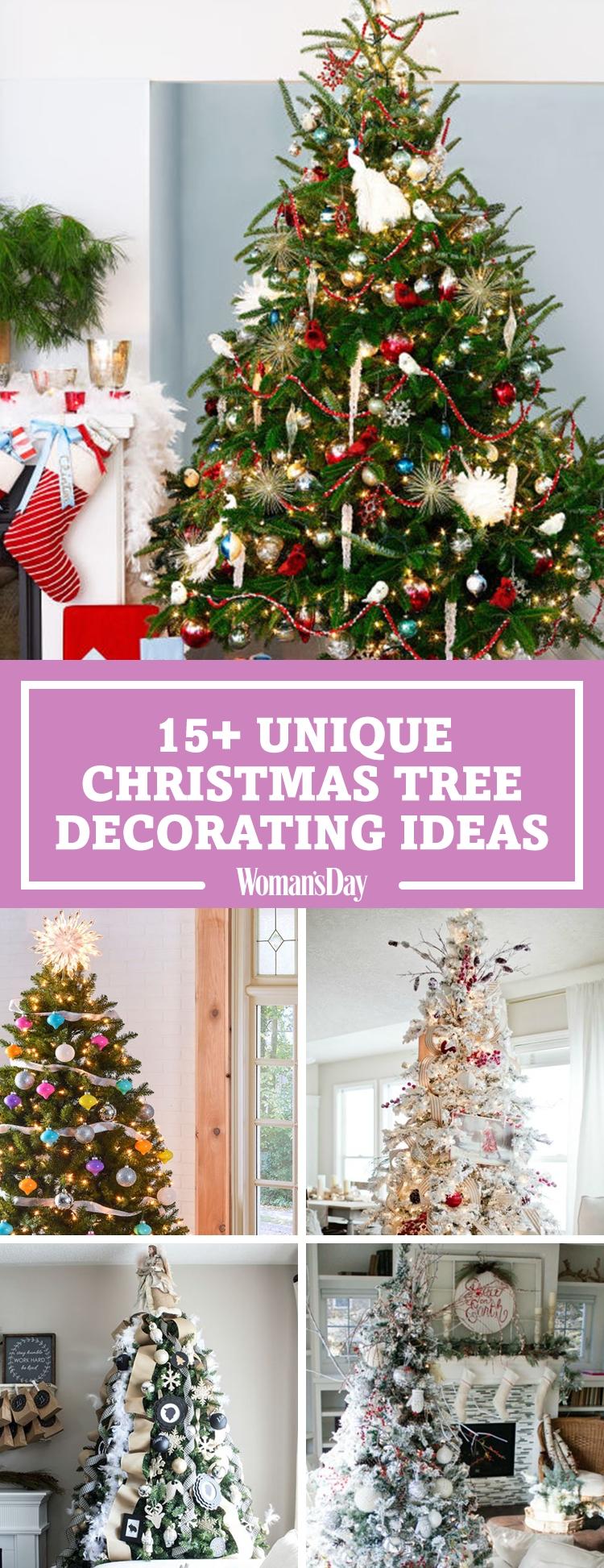 10 Pretty Unique Christmas Tree Decorating Ideas 25 unique christmas tree decoration ideas pictures of decorated