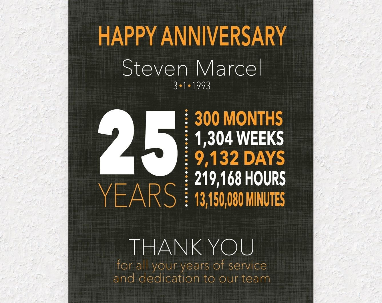 10 Famous 10 Year Anniversary Trip Ideas 25 year work anniversary gift 10 year anniversary gift for employee 2020