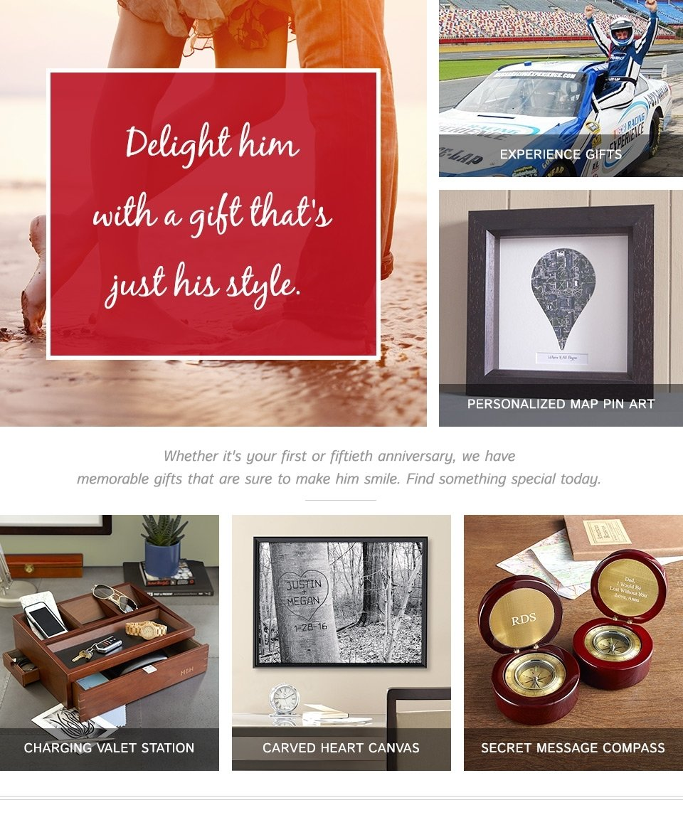 10 Wonderful Personalized Gift Ideas For Him 25th anniversary gifts gift ideas for men gifts 6 2020