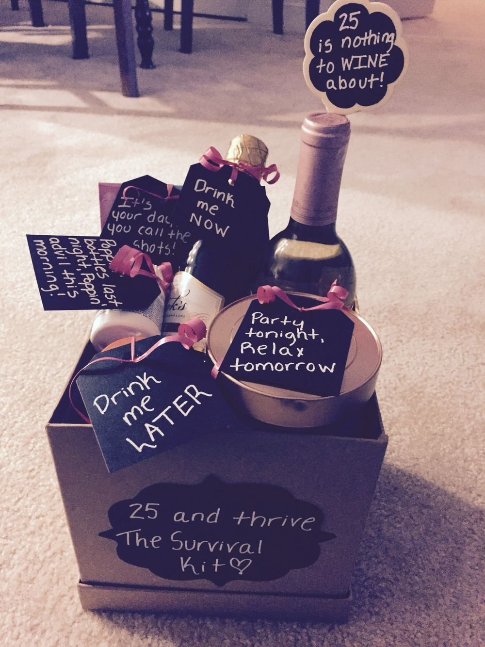 10 Cute 25 Birthday Ideas For Her 25th birthday gift basket gifts galore pinterest 25th 1 2020