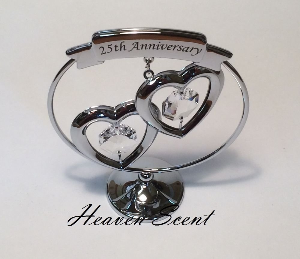 10 Gorgeous 25 Year Anniversary Gift Ideas 25th silver wedding anniversary gift ideas with swarovski crystals 2020